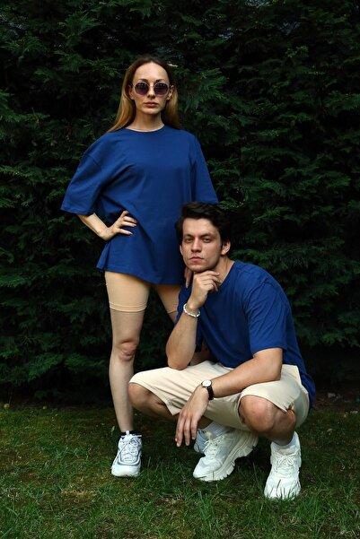 Penyem Unisex Mavi Oversize T-shirt