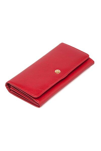 Tergan Kırmızı Deri Kadın Cüzdanı 05584c71