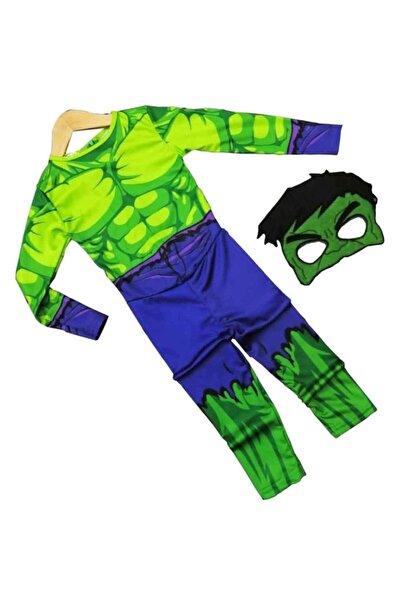 Gökmen Tekstil Maskeli 5-6 Yaş Hulk Çocuk Kostümü