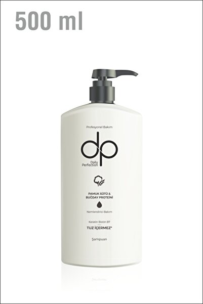 DP Daily Perfection Pamuk Sütü Buğday Proteini 500 Ml Tuzsuz Şampuan