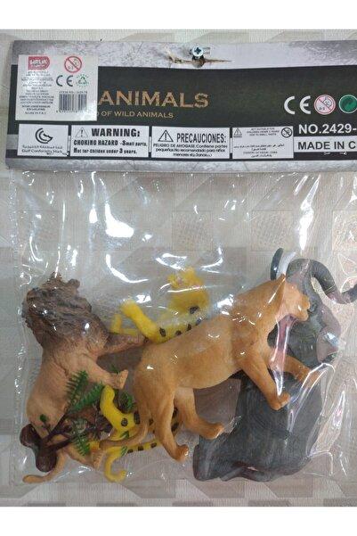 Birlik Oyuncak Aslanlı Orman Hayvanları Pvc 4'lü