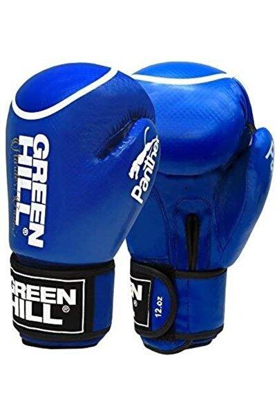 Green Hill Panther Carbon Deri Boks Ve Kick-boks Eldiveni Mavi 10 Oz. Bgp-2098