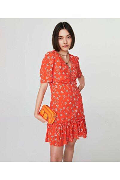 Twist Fırfırlı Mini Elbise