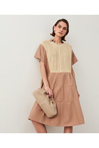 İpekyol Triko Mixli Poplin Elbise
