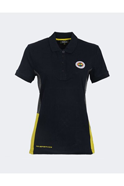 Fenerium Kadın Lacivert Trıbun Basıc Polo T-Shirt
