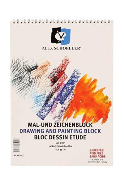 Alex Schoeller Resim Defteri 25x35 Spiralli 165 gr 15 Yaprak