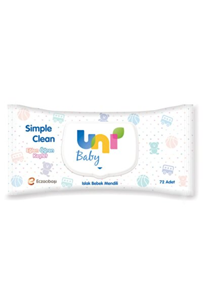Uni Unı Baby Sımple Clean Islak Mendil 72 Li 12 Adet