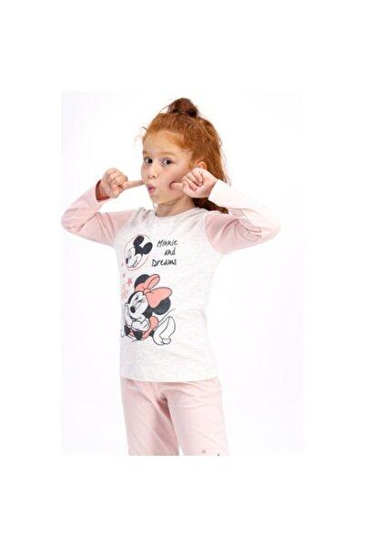 Mickey Mouse Kız Çocuk Pembe Disney Pijama Takımı D4411-3
