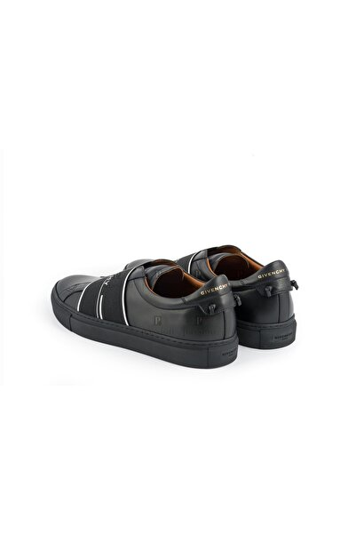 Givenchy Erkek Siyah Deri Sneaker