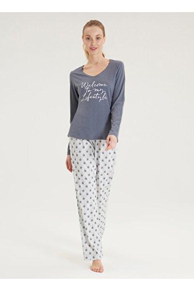 Blackspade Kadın Pijama Takımı 50345 - Gri