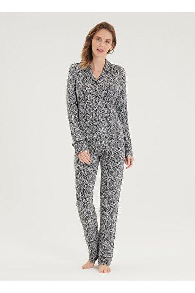 Blackspade Kadın Pijama Takımı 50304 - Leopar Baskılı