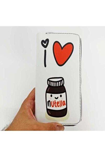 Nutella Unisex Beyaz Baskılı Cüzdan