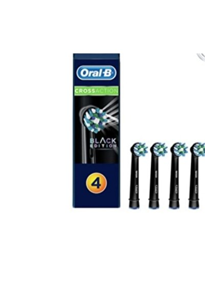 Oral-B Oral B Şarjlı Dis Firçasi Yedek Basligi Cross Action Siyah 4lü Black