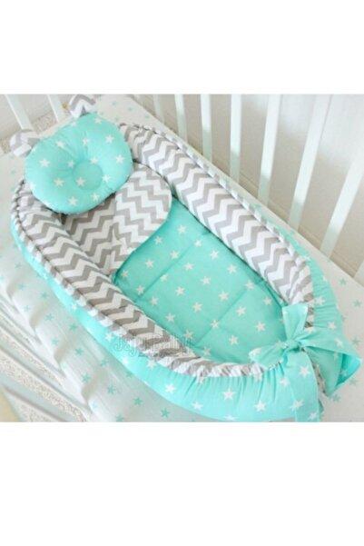 Babynest Unisex Bebek Gri Zikzak Yıldız Ortopedik Yatak 100x60 cm