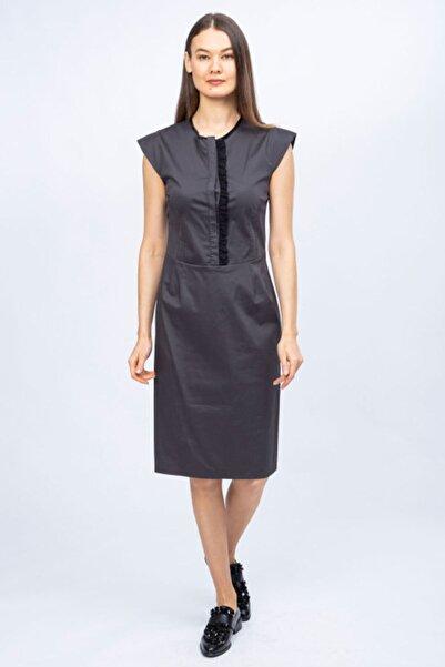 Ted Lapidus Kadın Antrasit Desenli Elbise 5050