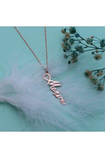 Molenza Kadın Kişiye Özel İsim Yazılı Gümüş Kolye
