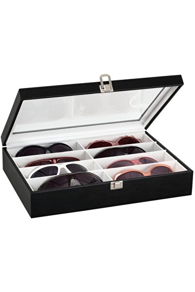 Chavin 8 Li Siyah Ahşap Gözlük Kutusu St8-5