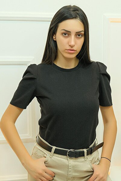 Haydigiy Crop Bluz Siyah - 8069.1186. - Y.s
