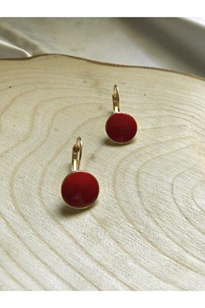 Accessories Kırmızı-gold Sallantılı Küpe