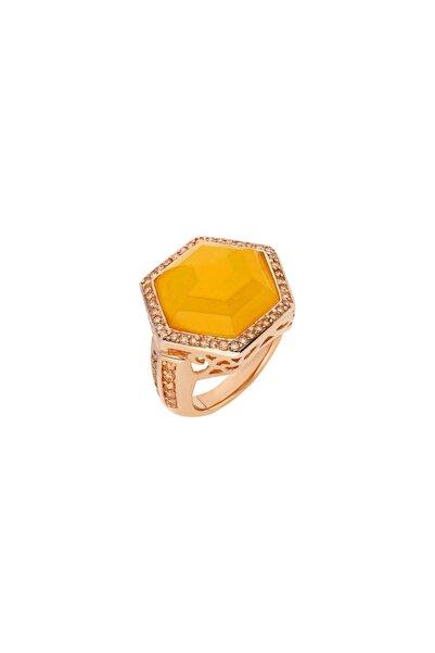 So CHIC... Jade Taşlı Rose Gold Gümüş Yüzük