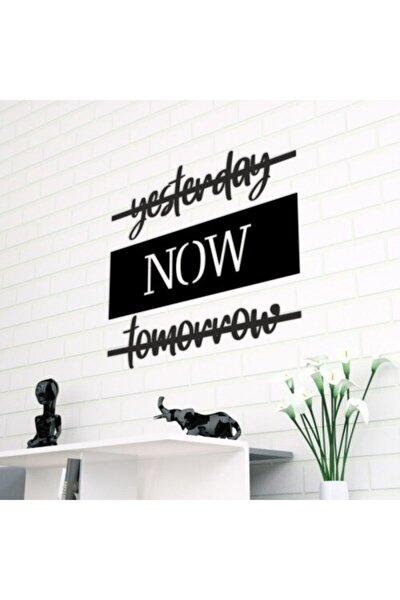 evdeucuz Yesterday Now Tomorrow Lazer Kesim Duvar Dekoru