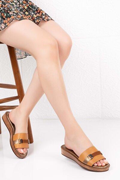 Gondol Kadın Taba Hakiki Deri Anatomik Taban Terlik 37 Özl.2405