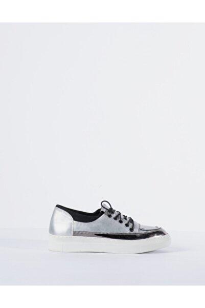 Vision Kadın Gri Metal Detaylı Sneaker