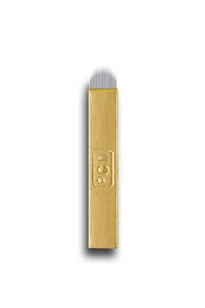 ARMONİKONYA 15 Adet 12 Pin U Sarı P.c.d Kalıcı Makyaj Dövme Microblading Iğnesi