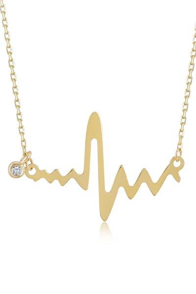 Gelin Pırlanta Kadın Altın Gelin Diamond Pırlantalı Kalp Ritmi Kolye