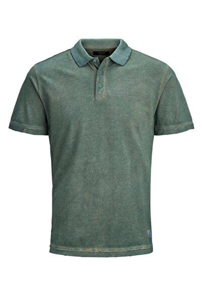 Jack & Jones Erkek Yeşil Polo Yaka Tişört