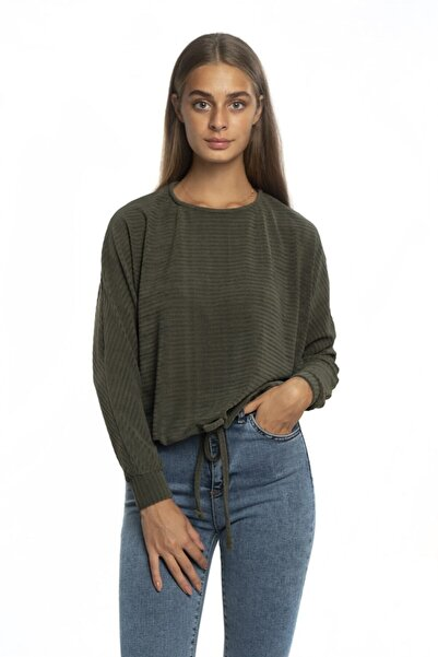 Miss Murem Kadın Yeşil Eteği Bağlamalı Bluz