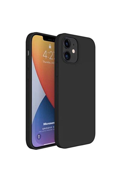 Microsonic Apple Iphone 12 Kılıf Groovy Soft Siyah