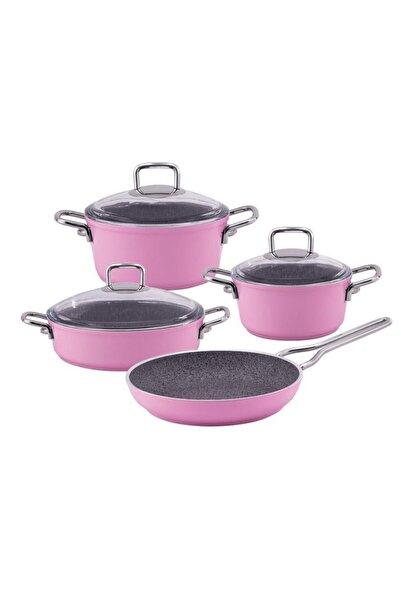 Emsan Premium Granit 7 Parça Set Baby Pink Metal