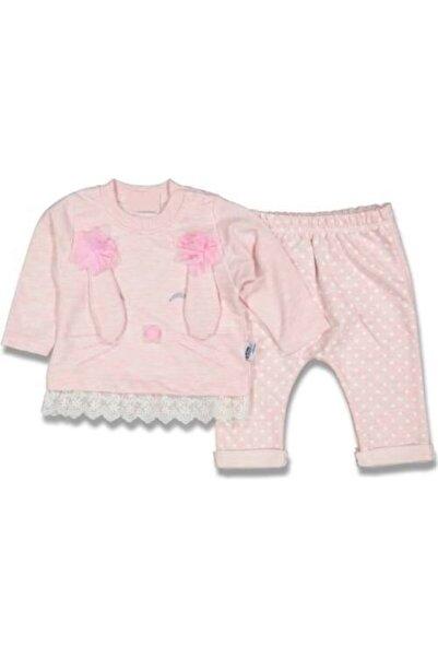 BabyHope Kız Bebek Pembe 2'li Tavşan Modelli Takım