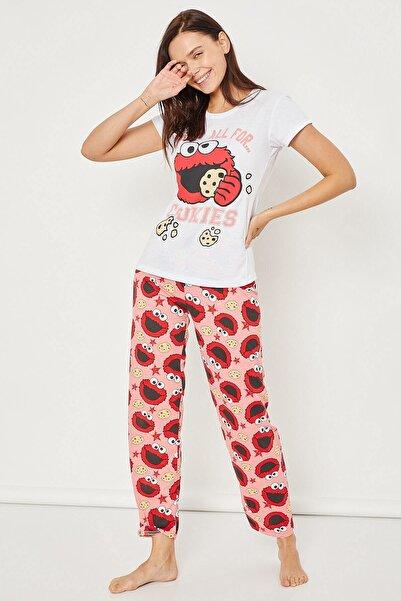 Arma Life Kadın Pembe Baskılı Pijama Takımı