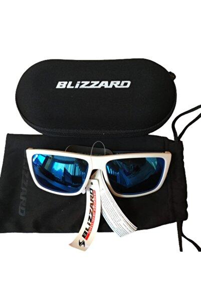 Blizzard Unisex Beyaz Mavi Güneş Gözlüğü