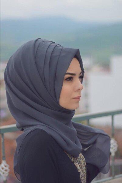 Sahra Şal Dünyası Kadın Füme Drapeli Zarif Hazır Şal