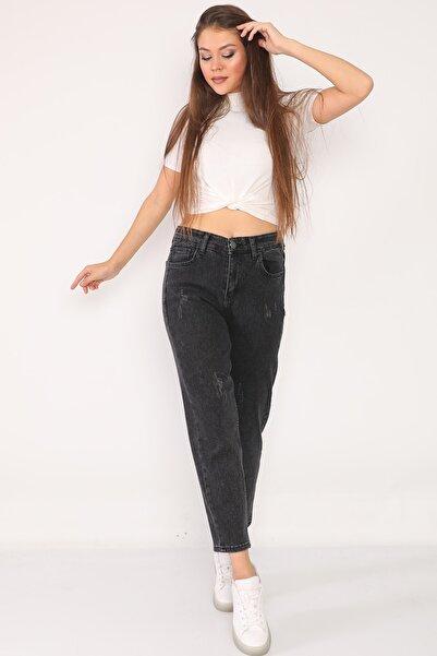 PodiumStar Yüksek Bel Full Likralı Mom Jeans Kot Pantolon
