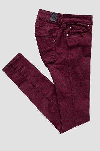 Replay Kadın Bordo Jeans