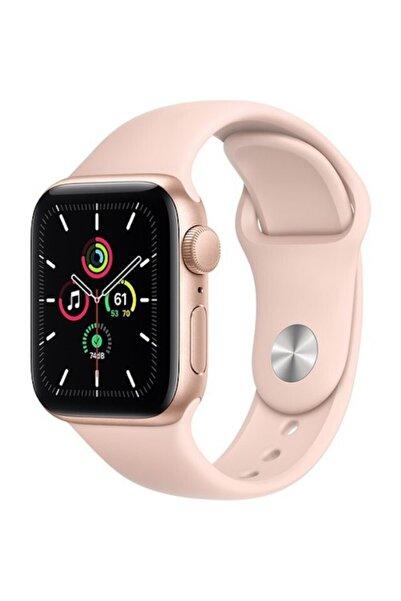 Apple Watch Se Gps 44 Mm Altın Rengi Alüminyum Kasa Ve Kum Pembesi Spor Kordon