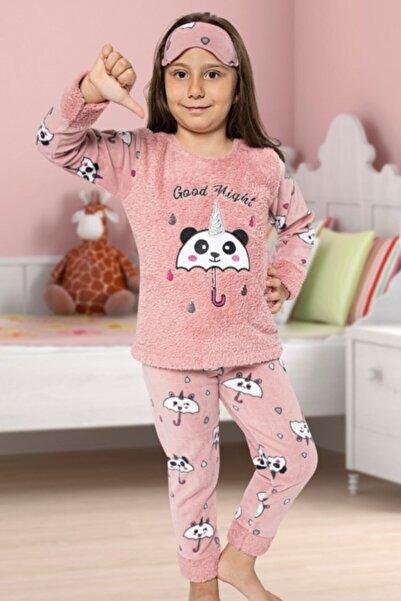Tarık Şemsiyeli Polar Kız Çocuk Pijama