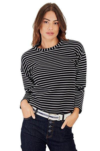 Galvanni Kadın Siyah Tisört Uzun Kol - Curıto