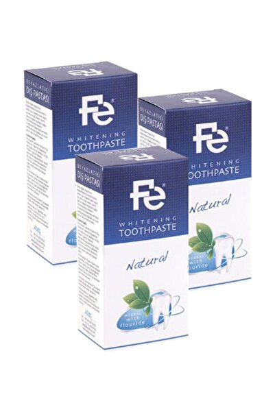 Fe Diş Pastası Natural Herbal Florürlü 90 Gr X 3 Adet