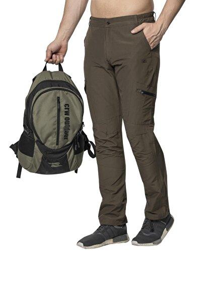 Crozwise Erkek Haki Pamuk Polyester Outdoor Pantolon
