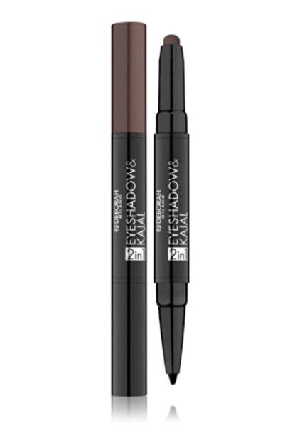 Deborah 2in1 Eyeshadow&kajal07 Dark Brown