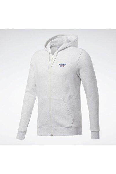 Reebok Unisex Beyaz Cl F Vector Fullzp Sweatshirt