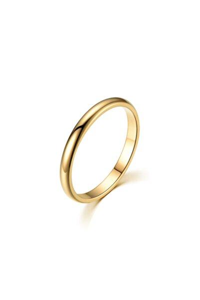 Chavin 2mm Söz Nişan Gold Ip Kap. Bayan Erkek Çelik Yüzük Eh23sr