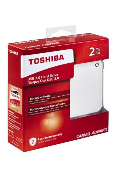 Toshiba 2tb Advance 2.5 Usb3.0 Toshıba Hdtc920ew3aa Beyaz (parola Koruma, Otomatik Yedekleme)