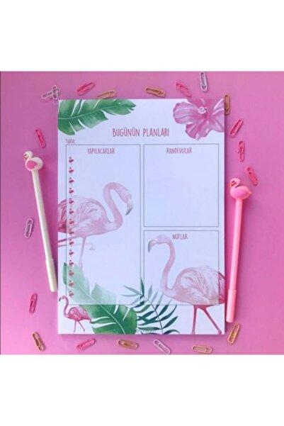 Minnoş Dükkan Flamingo Bugünün Planları A4 Günlük Planlayıcı Ve Notluk