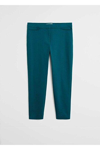 Violeta by MANGO Kadın Koyu Yeşil Dar Kesimli Takım Pantolon  67050109